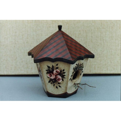"""Plaid"" Bird House"