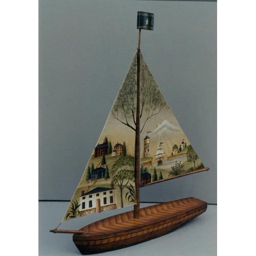 Sail Boat w/ Canvas Sails