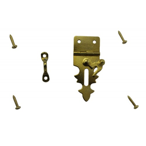 Brass Plated Hook and Hasp Kit