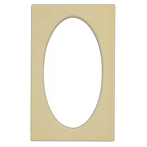 Rectangle Frame w/ Oval Cutout 3
